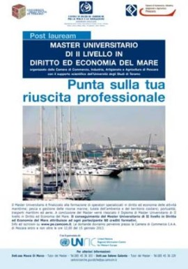 Master Diritto ed Economia del Mare